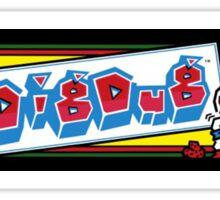 Dig Dug Arcade Sticker