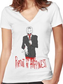 The Corporate Monster Women's Fitted V-Neck T-Shirt