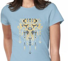 Modern Deco in Black and Cream Womens Fitted T-Shirt