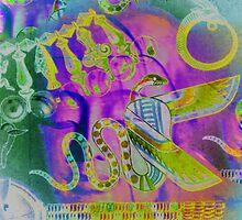 5734gvi Buddha and Winged Serpent by AnkhaDesh