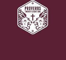 Proverbs 28:1 Ragnar Supporters Hexagon Unisex T-Shirt