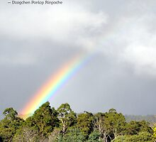 Rainbow over Dorje Ling Retreat Centre by tashicholing