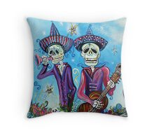 Secrets Of The Mariachi (All Saint's Day) Throw Pillow
