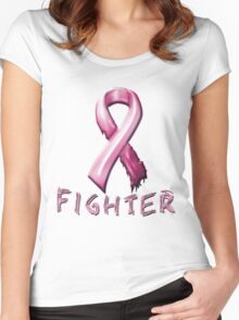 Breast Cancer Fighter Women's Fitted Scoop T-Shirt