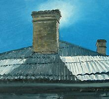 Chimney at New Norfolk by Michael Bessell