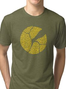 Breaking Bad Cracked Plate - Yellow Tri-blend T-Shirt
