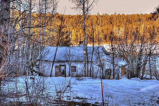 """""""The Old Winter Cottage By The Lake"""" by K D Graves Photography"""