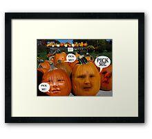 The Pumpkin Patch Framed Print