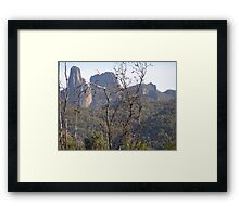 Approaching the High Tops. Warrumbungle National Park. Framed Print