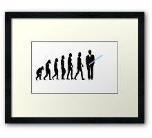 Evolution to Star Wars Framed Print