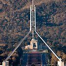 Parliament and war memorial australia by Steven Ralser