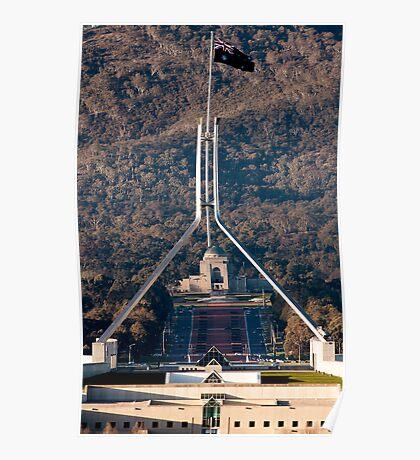 Parliament and war memorial australia Poster