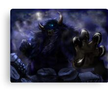 Demon Behind The Mountains: Thunder Punch Canvas Print