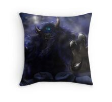 Demon Behind The Mountains: Thunder Punch Throw Pillow