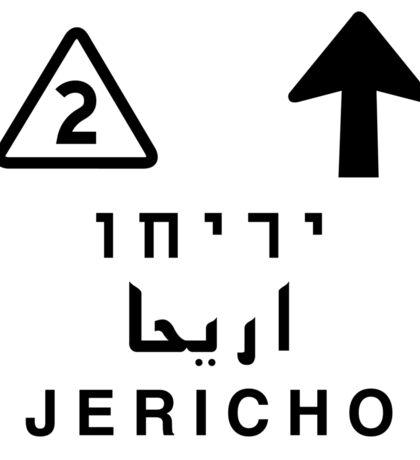Jericho, Road Sign, Palestine Sticker
