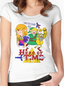 Hero of Time! Women's Fitted Scoop T-Shirt