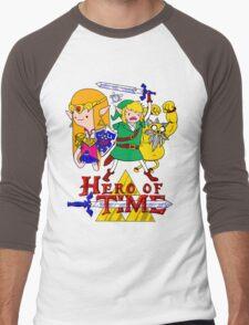 Hero of Time! Men's Baseball ¾ T-Shirt