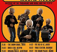 The Cantina Band Tour Poster by JurassicArt