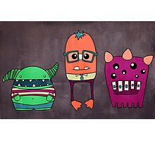 Dorky Monsters Photographic Print