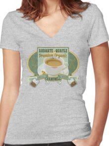 Breaking Bad Inspired - Rodarte-Quayle Chamomile Tea - Lydia's Tea - Ricin Spiked Stevia - Breaking Bad Finale Parody Women's Fitted V-Neck T-Shirt