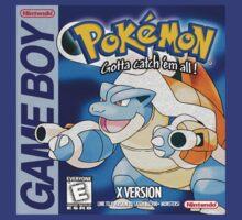 Pokemon X Game Boy Art by brentwards