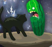 Cat vs Cucumber Sticker
