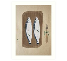 fish illustration Art Print