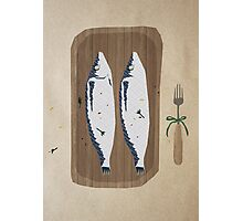 fish illustration Photographic Print