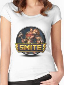Smite Hercules Logo Women's Fitted Scoop T-Shirt