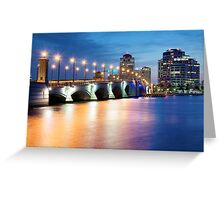 West Palm Beach Lights Greeting Card