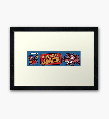 Donkey Kong JR Arcade Framed Print