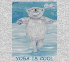 'Yoga is Cool' Yoga Bear in 'Icy Pole Pose' (tree pose) One Piece - Long Sleeve