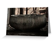 Cement bowl  Greeting Card