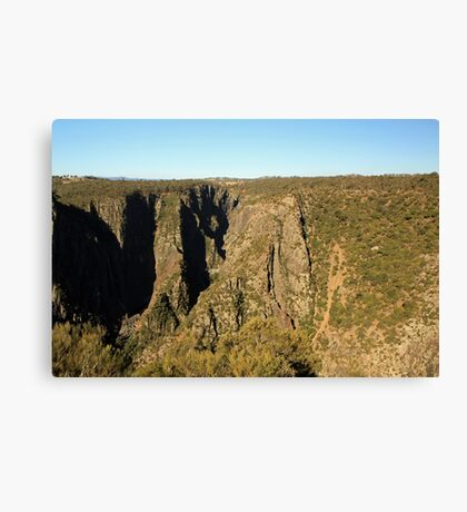 Wollomombi falls and gorge Canvas Print