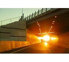 Sunset Tunnel Photographic Print