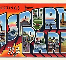 Asbury Park Vintage Greetings by TravelShop