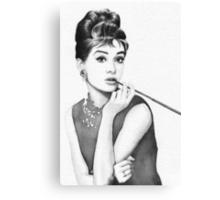 Audrey Hepburn Watercolor Portrait Canvas Print