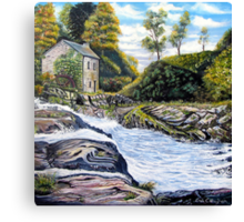 The Mill on the River Canvas Print