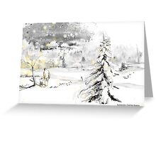 Cold time Greeting Card