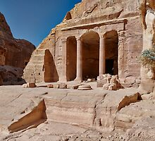 Garden Temple in nabataean ancient town Petra by travel4pictures