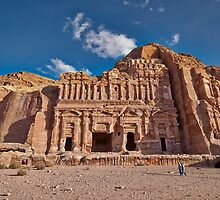 Palace Tomb in Nabataean ancient town Petra by travel4pictures