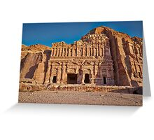 Palace Tomb in Nabataean ancient town Petra Greeting Card