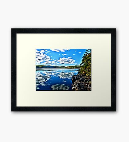 Reflections HDR Framed Print