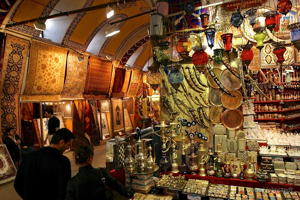 The Covered Bazaar in Istanbul by Jens Helmstedt