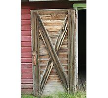 Wooden Barn Door Photographic Print