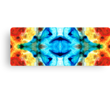 Synchronicity - Colorful Abstract Art by Sharon Cummings Canvas Print