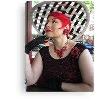 big hat lady  Canvas Print