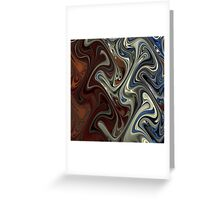 Brown Grey and Blue Mixture Greeting Card
