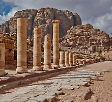 nabatean city Petra, Cardo Maximus by travel4pictures