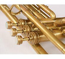 Vintage Brass Trumpet Photographic Print